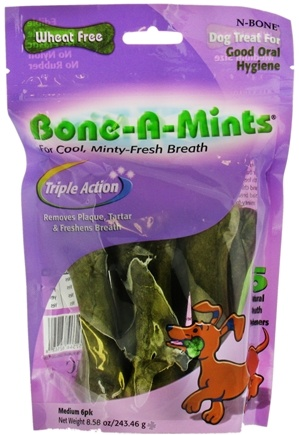 DROPPED: Love2Pet - Bone-A-Mint Dog Treat For Good Oral Hygiene Medium 6 pk - 8.58 oz.