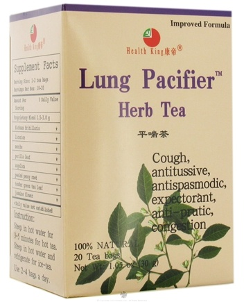DROPPED: Health King - Lung Pacifier Herb Tea - 20 Tea Bags CLEARANCE PRICED