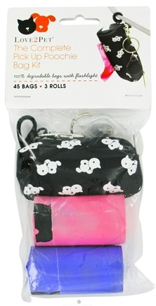 DROPPED: Love2Pet - The Complete Pick Up Poochie Bag Kit - 45 Bags Formerly Pu Poochie CLEARANCE PRICED