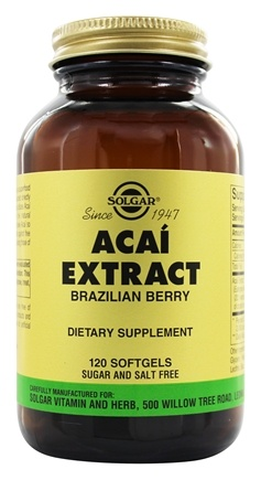 DROPPED: Solgar - Acai Extract Brazilian Berry - 120 Softgels