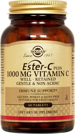 DROPPED: Solgar - Ester C Plus Vitamin C 1000 mg. - 60 Tablets CLEARANCE PRICED
