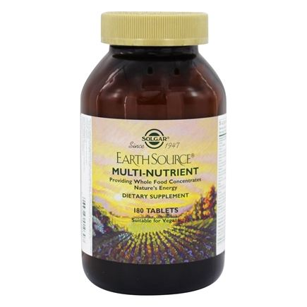 Solgar - Earth Source Multi-Nutrient Providing Whole Food Concentrates - 180 Tablets