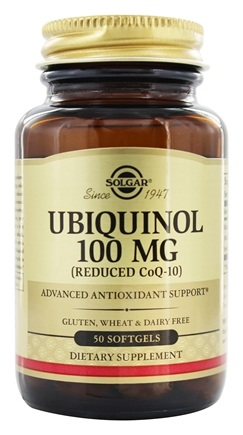 Solgar - Ubiquinol Reduced CoQ-10 100 mg. - 50 Softgels