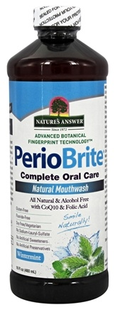 Nature's Answer - PerioBrite Natural Mouthwash Wintermint - 16 oz.