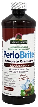 Nature's Answer - PerioBrite Natural Mouthwash Cinnamint - 16 oz.