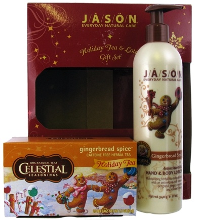 DROPPED: Jason Natural Products - Holiday Tea & Lotion Gift Set Celestial Seasonings Gingerbread Spice