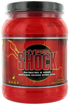 DROPPED: Myogenix - Hyper Shock Patented 8 Hour Sustained Release Nitric Oxide - 780 Grams CLEARANCE PRICED