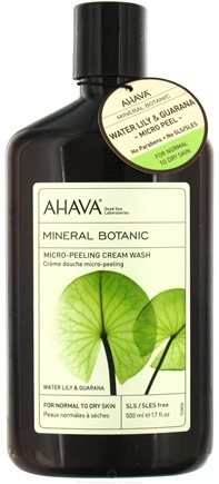 DROPPED: AHAVA - Mineral Botanic Micro-Peeling Cream Wash Water Lily & Guarana - 17 oz. CLEARANCE PRICED