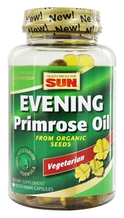 Health From The Sun - 100% Vegetarian Evening Primrose Oil From Organic Seeds - 90 Vegetarian Capsules