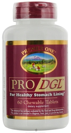 DROPPED: Premier One - Pro DGL for Healthy Stomach Lining - 60 Chewable Tablets CLEARANCE PRICED