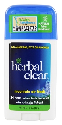 Herbal Clear - Mountain Air Fresh Deodorant Stick with Swiss Alps Lichen - 1.8 oz.