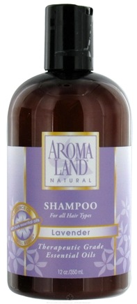 DROPPED: AromaLand - Natural Shampoo For All Hair Types Lavender - 12 oz. CLEARANCE PRICED