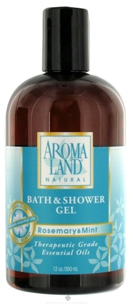 DROPPED: AromaLand - Natural Bath & Shower Gel Rosemary & Mint - 12 oz. CLEARANCE PRICED