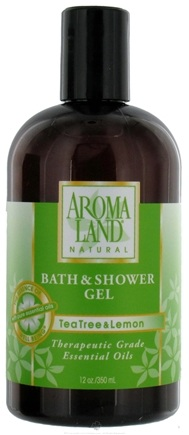 DROPPED: AromaLand - Natural Bath & Shower Gel Tea Tree & Lemon - 12 oz. CLEARANCED PRICED