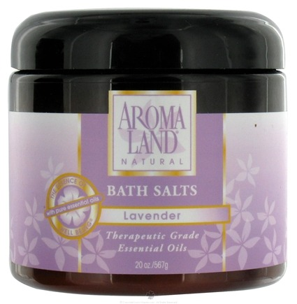 DROPPED: AromaLand - Natural Bath Salts Lavender - 20 oz. CLEARANCE PRICED