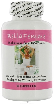 DROPPED: Muscadine Naturals - BellaFemme Balance for Women - 90 Capsules CLEARANCE PRICED