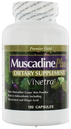 DROPPED: Muscadine Naturals - Muscadine Plus Vinetra - 180 Capsules