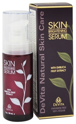 DeVita - Natural Skin Care Skin Brightening Serum with Emblica Fruit Extract - 1 oz.