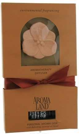 DROPPED: AromaLand - Aromatherapy Diffuser Personal Aroma Disk With Refreshing Essential Oil - CLEARANCE PRICED