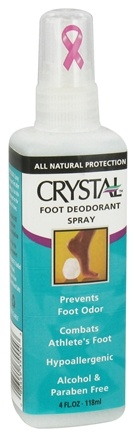 DROPPED: Crystal Body Deodorant - Crystal Foot Deodorant Spray By French Transit - 4 oz. CLEARANCE PRICED