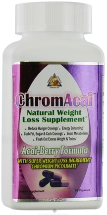 DROPPED: Adrenal Fatigue Institute - ChromAcai Natural Weight Loss Supplement - 30 Capsules CLEARANCE PRICED