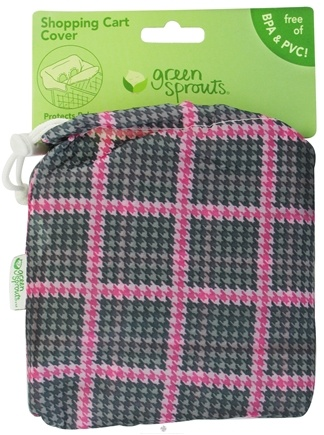 DROPPED: Green Sprouts - Shopping Cart Cover Pink & Grey - CLEARANCE PRICED