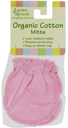 Zoom View - Green Sprouts Organic Cotton Mitts 0-3 Months