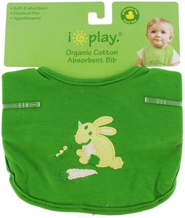 DROPPED: Green Sprouts - Organic Cotton Infant Bib Rabbit Green 6-12 Months