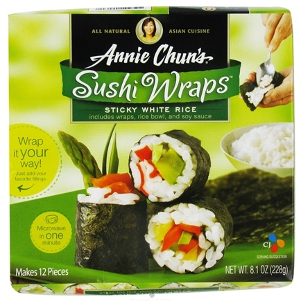 DROPPED: Annie Chun's - Sushi Wraps Sticky White Rice - 8.1 oz. CLEARANCE PRICED