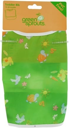 DROPPED: Green Sprouts - Toddler Bib Animals 6-24 Months PVC-Free Green