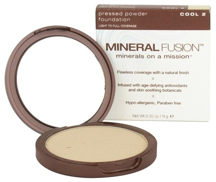 DROPPED: Mineral Fusion - Pressed Powder Foundation Cool 2 - 0.32 oz. CLEARANCE PRICED
