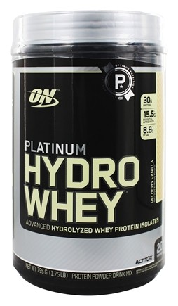DROPPED: Optimum Nutrition - Platinum Hydro Whey Advanced Hydrolyzed Whey Protein Velocity Vanilla - 1.75 lbs.