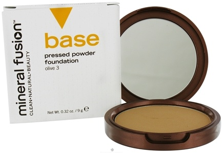 DROPPED: Mineral Fusion - Base Pressed Powder Foundation Olive 3 - 0.32 oz. CLEARANCE PRICED