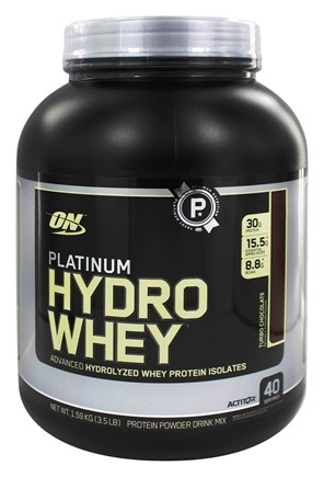 Optimum Nutrition - Platinum Hydro Whey Advanced Hydrolyzed Whey Protein Turbo Chocolate - 3.5 lbs.