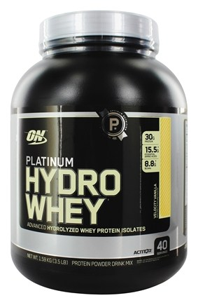 Optimum Nutrition - Platinum Hydro Whey Advanced Hydrolyzed Whey Protein Velocity Vanilla - 3.5 lbs.