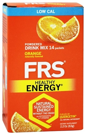 DROPPED: FRS Healthy Energy - Powdered Drink Mix Diet Orange - 14 Packet(s)