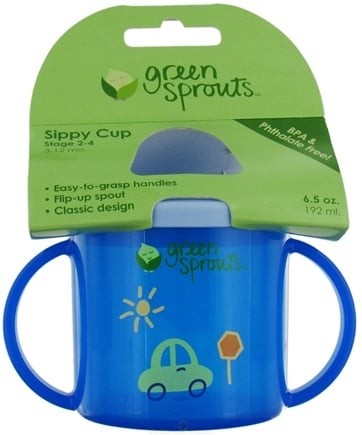 DROPPED: Green Sprouts - Sippy Cup Stage 2-4 3-12 Months Blue - CLEARANCE PRICED