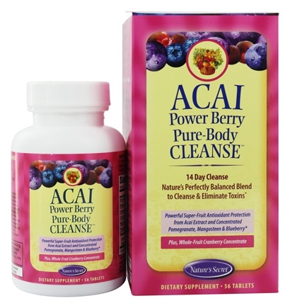 DROPPED: Nature's Secret - Pure Body Cleanse Acai Powered Berry - 56 Tablets