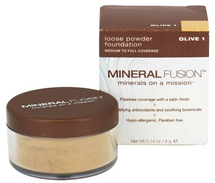 DROPPED: Mineral Fusion - Loose Powder Foundation Olive 1 - 0.14 oz. CLEARANCED PRICED