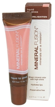 DROPPED: Mineral Fusion - Liquid Lip Gloss Enlighten - 0.37 oz. CLEARANCE PRICED