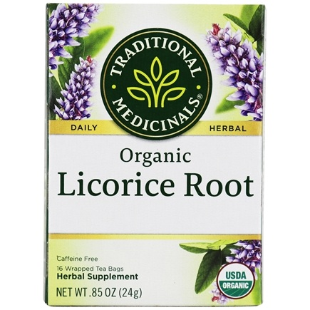 Traditional Medicinals - Organic Licorice Root Caffeine Free Herbal Tea - 16 Tea Bags