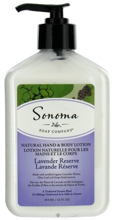 DROPPED: Sonoma Soap - Natural Hand & Body Lotion Lavender Reserve - 12 oz. CLEARANCE PRICED