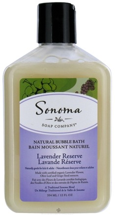 DROPPED: Sonoma Soap - Natural Bubble Bath Lavender Reserve - 12 oz. CLEARANCE PRICED