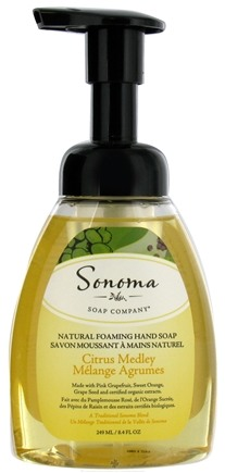 DROPPED: Sonoma Soap - Natural Foaming Hand Soap Citrus Medley - 8.4 oz. CLEARANCE PRICED