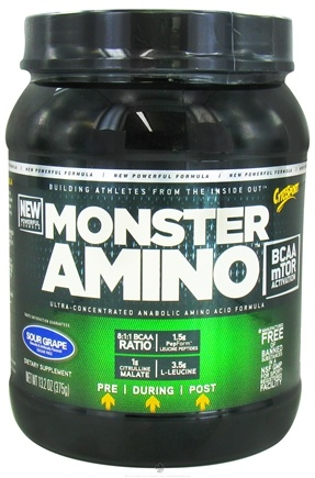 DROPPED: Cytosport - Monster Amino BCAA Ultimate Amino Acid Formula Sour Grape - 13.2 oz.