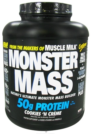 DROPPED: Cytosport - Monster Mass Nature's Ultimate Mass Builder Cookies N Creme - 5.95 lbs. CLEARANCE PRICED
