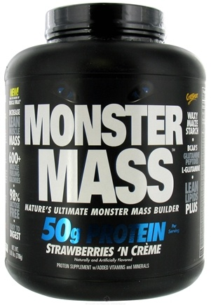 DROPPED: Cytosport - Monster Mass Ultimate Mass Builder Strawberries N Creme - 5.95 lbs. CLEARANCE PRICED