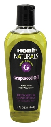 Hobe Labs - Grapeseed Oil 100% Pure with Vitamin E - 4 oz.