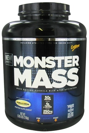 DROPPED: Cytosport - Monster Mass Gaining Formula with mTOR Activators Vanilla - 5.95 lbs.