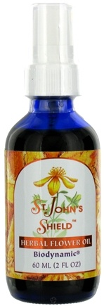 DROPPED: Flower Essence Services - Herbal Flower Oil Saint Johns Shield - 2 oz. CLEARANCE PRICED